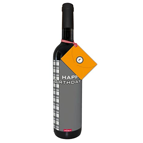 Wein Happy Birthday Geldgeschenk Trockener Rotwein Aus Spanien100