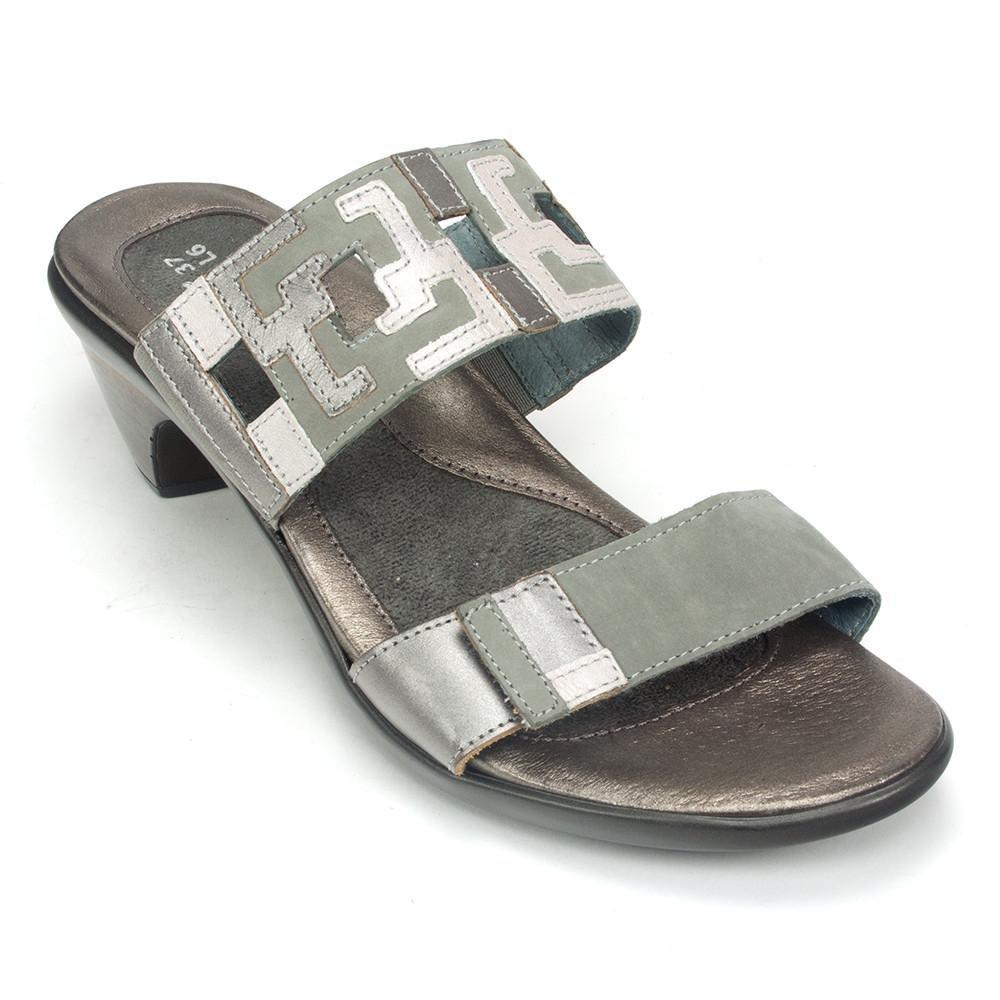 Naot Women's Chic Sandals, Grey, Leather, Microfiber, Latex, Cork, 41 M EU, 10-10.5 M