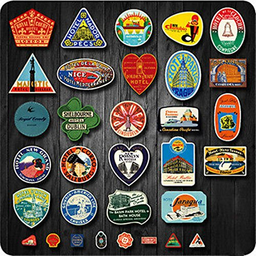 Lot of 32pcs Random Mix Retro Vintage Travel Hotel Airline Skateboard Luggage Car Stickers
