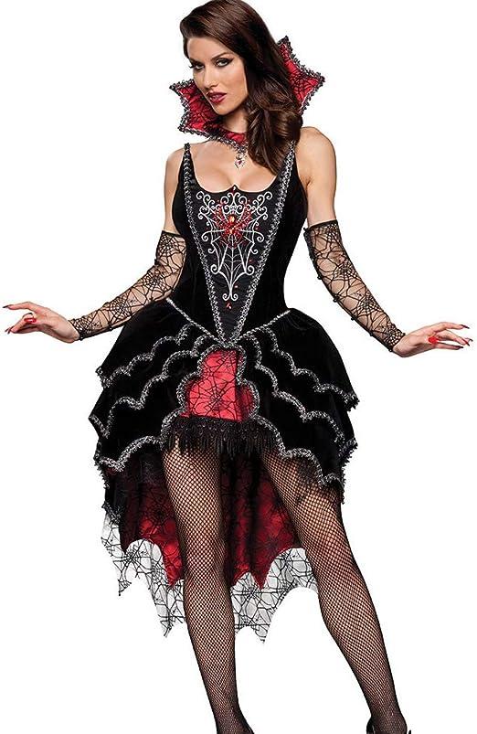 VAMPIR DAMEN KOSTÜM # Halloween Vampirin Gothic Mittelalter Kleid S-M-L-XL 0618