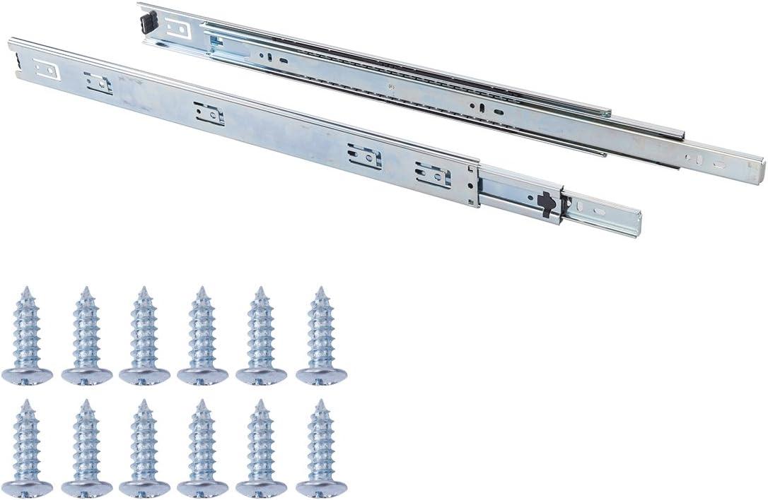 Basics AB5006-B22-5 Glissi/ères de tiroir 558 mm Acier
