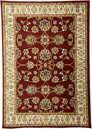 Large 5x8 Red Cream Beige Black Isfahan Area Rug Oriental Carpet 6x8