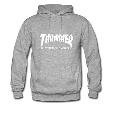 Tomoin Mens Thrasher Skateboard Hoodies Long Sleeve O Neck Hoody