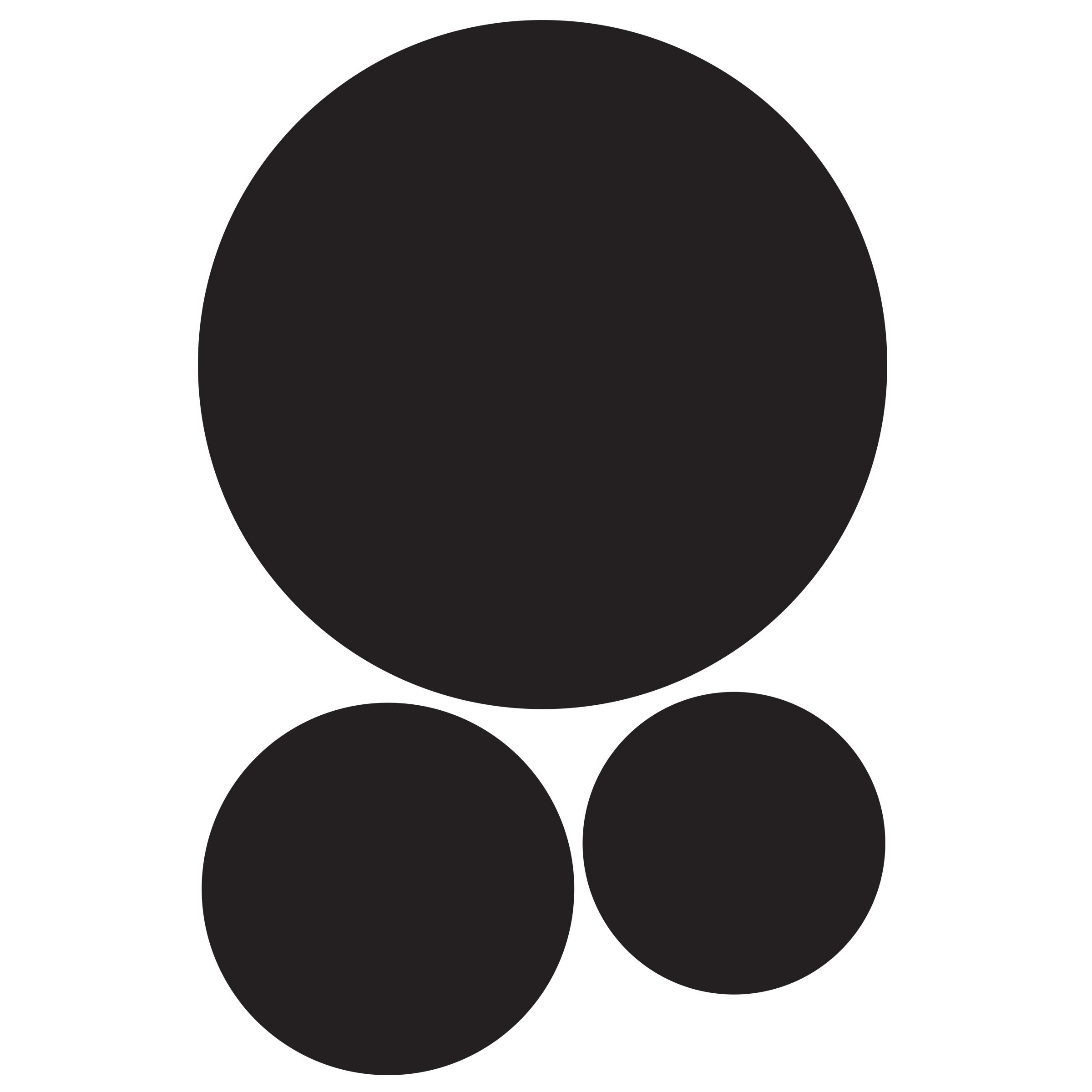 Wallies Peel and Stick Black Circle Chalkboard Wall Decals, Set of 3