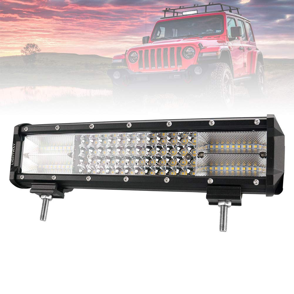 Liteway 20inch 468w CREE LED Work Light Spot Flood COMBO LED Off Road Lights Driving Fog Light for Truck, Car, ATV, SUV, Jeep, Updated Version, 1 Year Warranty Zhongxin