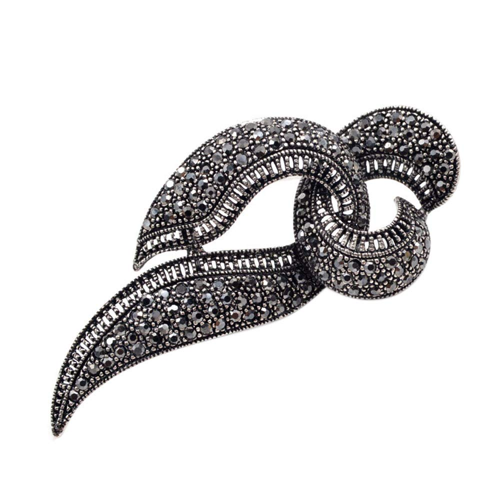 CINDY XIANG Rhinestone Black Letter Brooches Women Fashion Design Brooch Pin Vintage Jewelry Exquisite Coat Accessories Gift