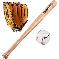NHK-MX 25 '' Juego de Bate de béisbol de Madera para niños jóvenes Deportes de Interior al Aire Libre Defensa del hogar…
