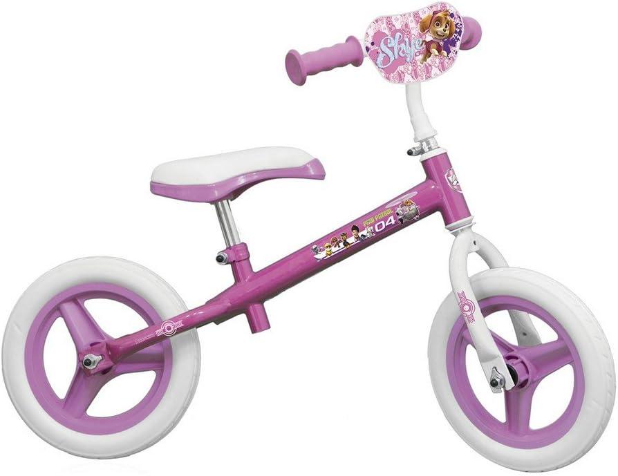 Bicicleta sin pedales para niña, diseño de La Patrulla Canina de Disney, 10 pulgadas: Amazon.es: Deportes y aire libre