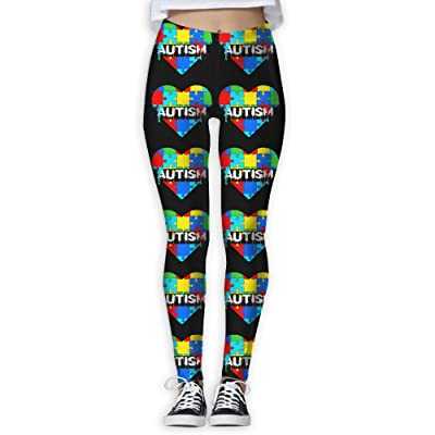 BVDFT MOERST Dripping Autism Awareness Autism Heart Womenâ€s Yoga Pants Tummy Control Workout Running Stretch Yoga Leggings