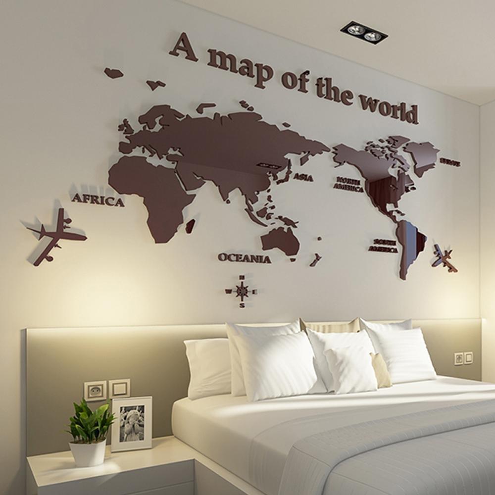Weltkarte Wand Aufkleber 3D Stereo Büro Dekor modernen ...