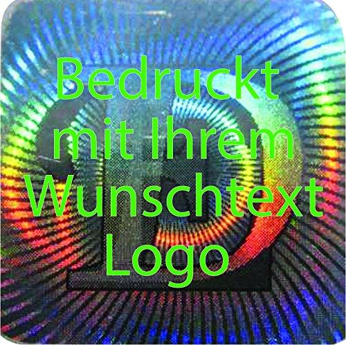 EtikettenWorld BV, EW-H-M178-tg-700, EW-H-M178-tg-700, EW-H-M178-tg-700, 700 Stück Hologrammaufkleber, 2D, 12x12mm silberfarbige Metallfolie, bedruckt in grün mit Ihrem Wunschtext Logo, Hologramm Etiketten, selbstklebend, Hologramm Aufkleber, Sicherheitssiegel, Garantiesiegel, Gar 5591d2
