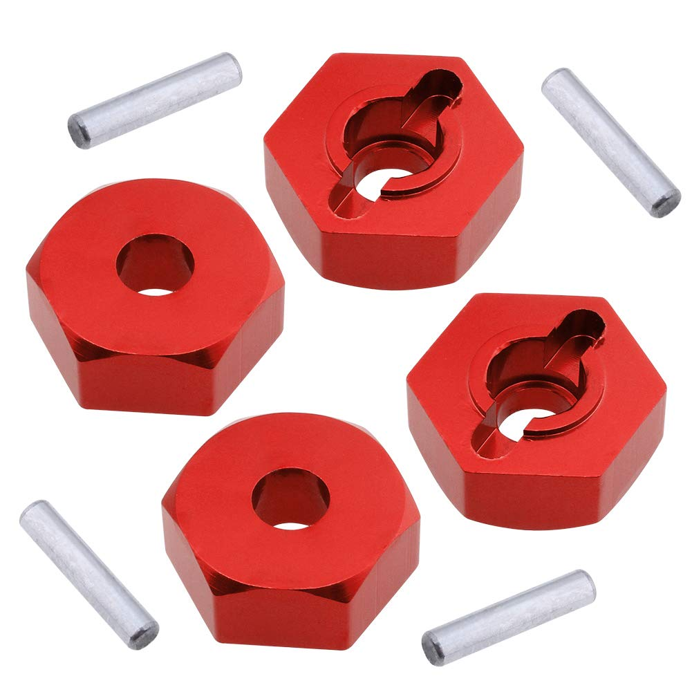 8-Pack Red Hobbypark Aluminum 12mm Wheel Hex Nuts /& M4 Lock Nuts for 1//10 Scale RC Car Truck Crawler Buggy Short Course
