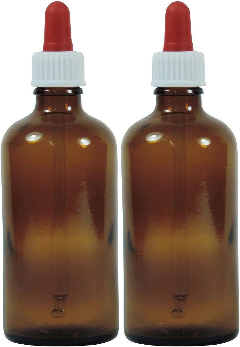 Viva-Haushaltswaren–10 frascos cuentagotas de Vidrio, para Farmacia, Color marrón, Vidrio, marrón, 100 ml
