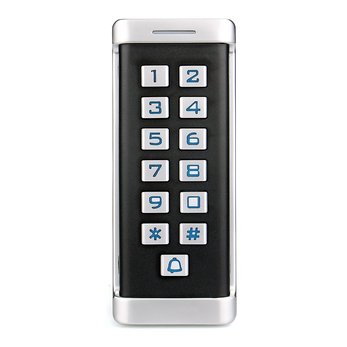 TIVDIO H1EM-W Access Control Keypad Waterproof IP68 Metal Case RFID 125KHz Keypad Single Door Stand-alone with 2000 Users for Outdoor and Indoor Wiegand 26 bit I/O (Silver)