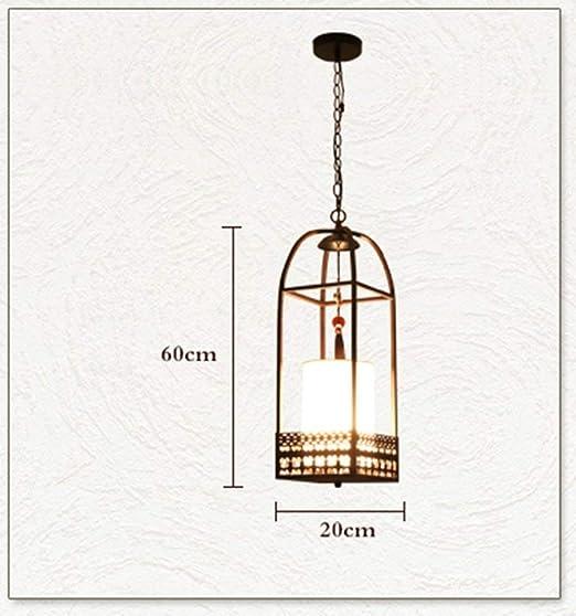 Lámpara de Techo Nuevo Estilo Chino Jaula de Pájaros Candelabro ...