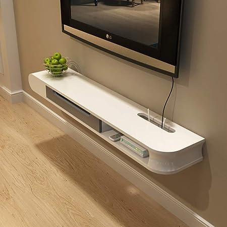 Pared TV Gabinete Estante,2 Nivel Flotante TV Mueble Colgando Consola para TV para Cable Box Modern Home Decor Almacenamiento A 120x23.8x11cm(47x9x4inch): Amazon.es: Hogar