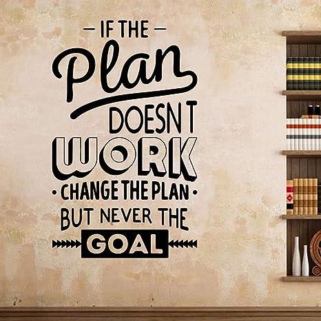 Positive Energie Plan Arbeit Wandaufkleber Zitate Büro