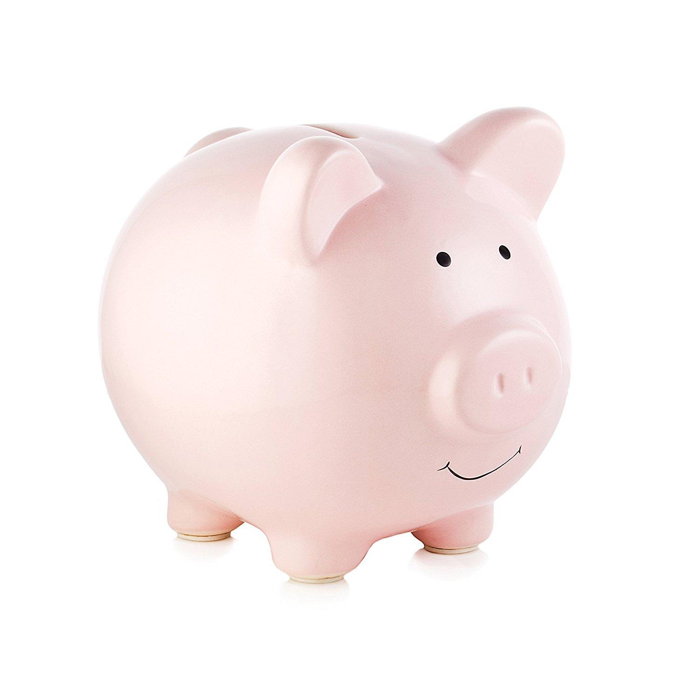 Piggy Bank Small Piggy Banks for Girls Boys Kids Piggy Banks A New Piggy Banks for Gift By Pauline(Pink)