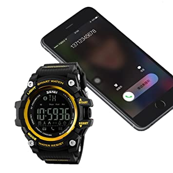 Luxtech Reloj inteligente smart Watch Classic Bluetooth Multi-Función: Llamada de teléfono-Alerta