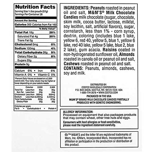 Kirkland Signature Expect More Trail Mix Snack Packs 2 oz, 56 count by EVAXO (Image #1)
