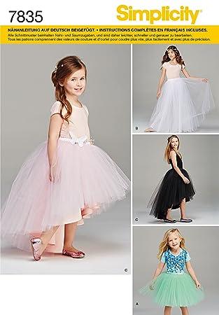 Burda Simplicity s7835.k5 Schnittmuster Kleid Mädchen Papier weiß 21 ...