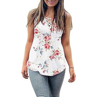 Gusspower Camiseta Tirantes sin Manga para Mujeres Basicas Camisa ...