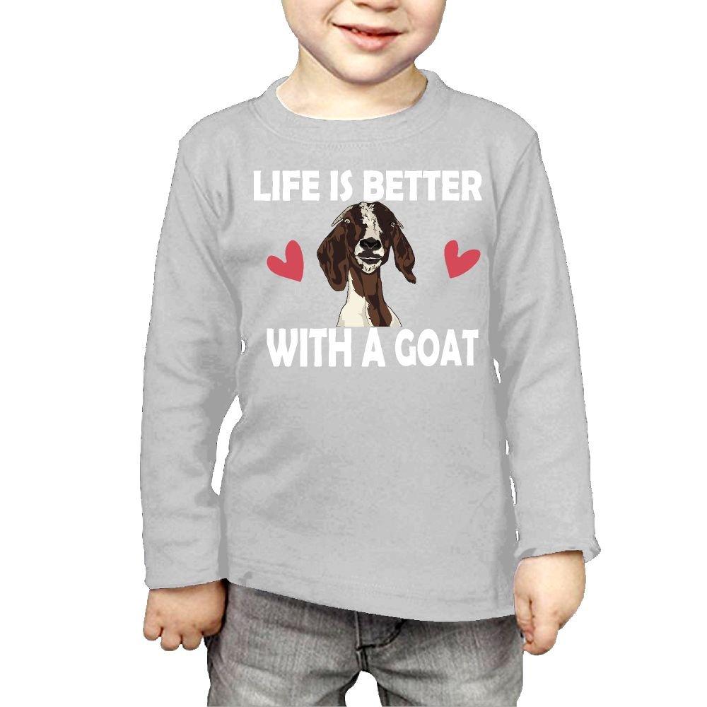 Childrens Life is Better A Goat-1 ComfortSoft Long Sleeve T-Shirt