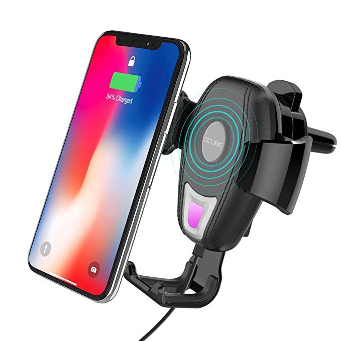 size 40 1f747 c5c2e Wireless Car Mount Charger, OCUBE Air Vent Phone Car Holder with Qi  Standard Wireless Charging for iPhone X/iPhone 8/8 plus/Samsung Galaxy  S8/S8 ...