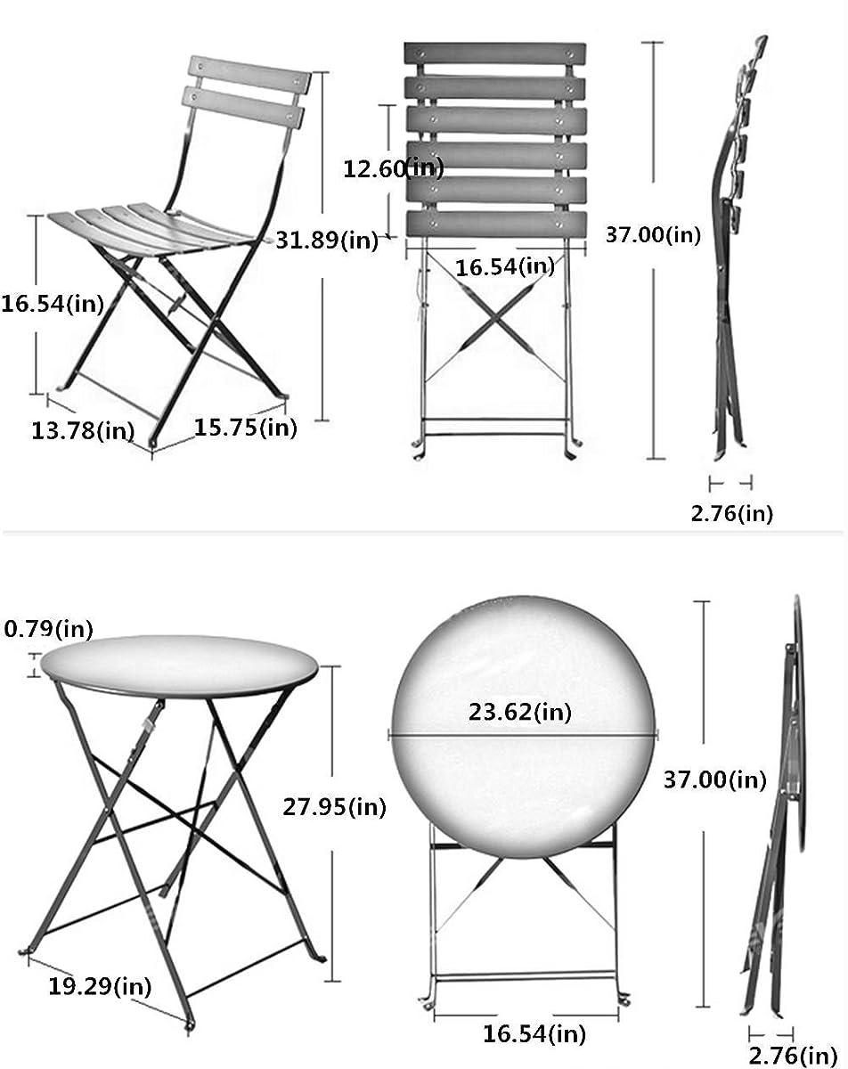 cb7b822e427b Grand patio Premium Steel Patio Bistro Set, Folding Outdoor Patio Furniture  Sets, 3 Piece Patio Set ...
