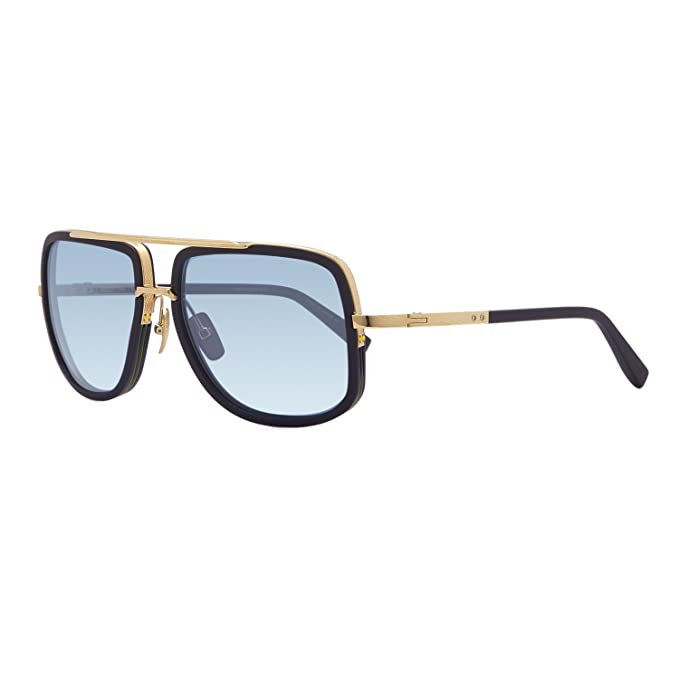 023fcb269e Dita Mach One Sunglasses DRX 2030H Navy 18K Gold Frame Dark Blue Gold Flash  Lens  Dita  Amazon.ca  Clothing   Accessories