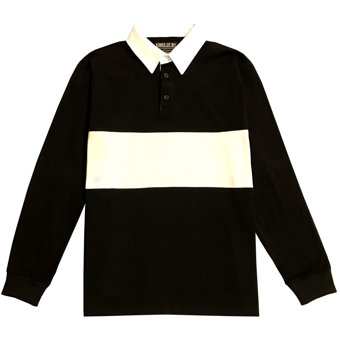 Kings Of Ny Classic Mens Long Sleeve Sports Polo Rugby Shirt At