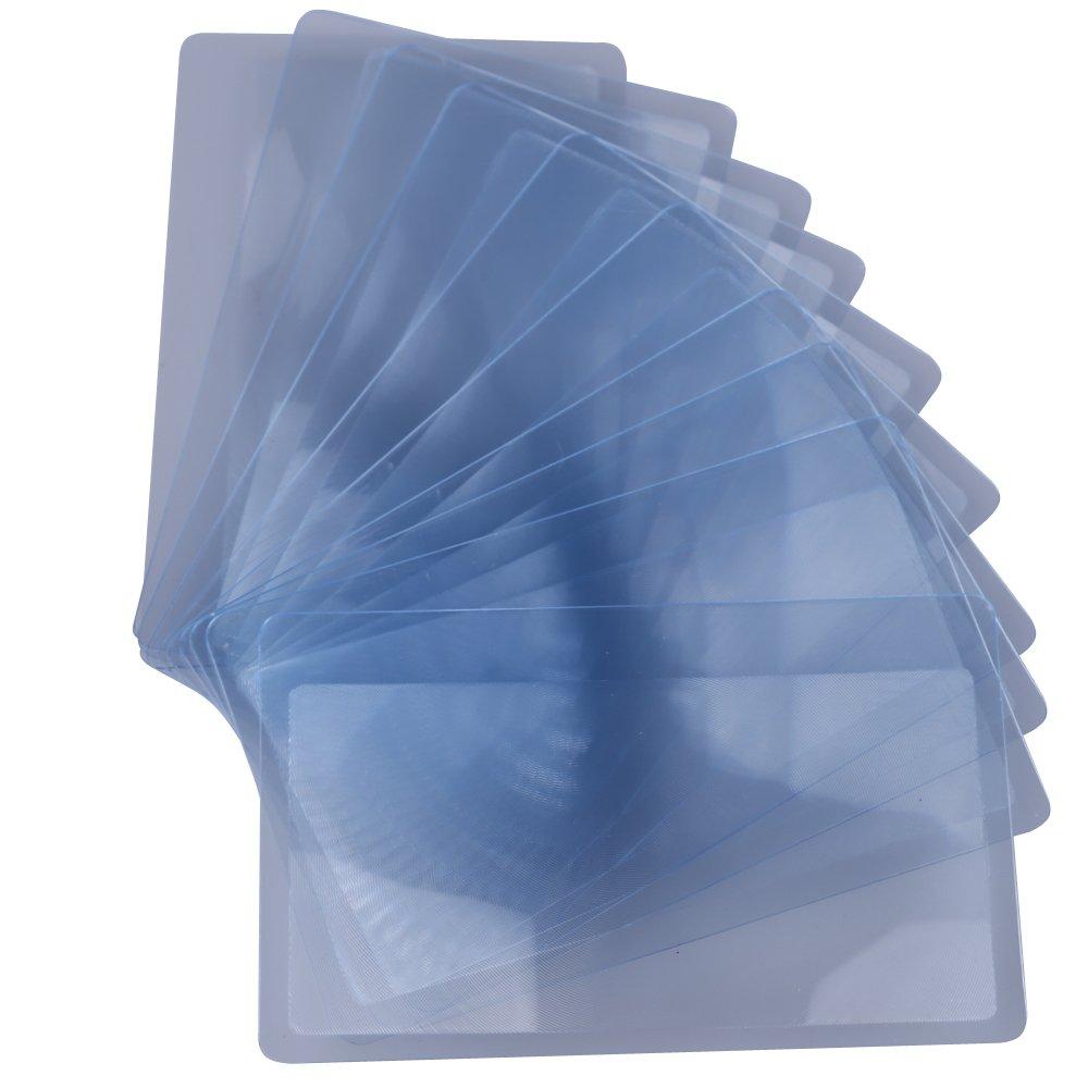 Demiawaking 10 pezzi, dimensione carta di credito: lente di ingrandimento 3 X, obiettivo Fresnel