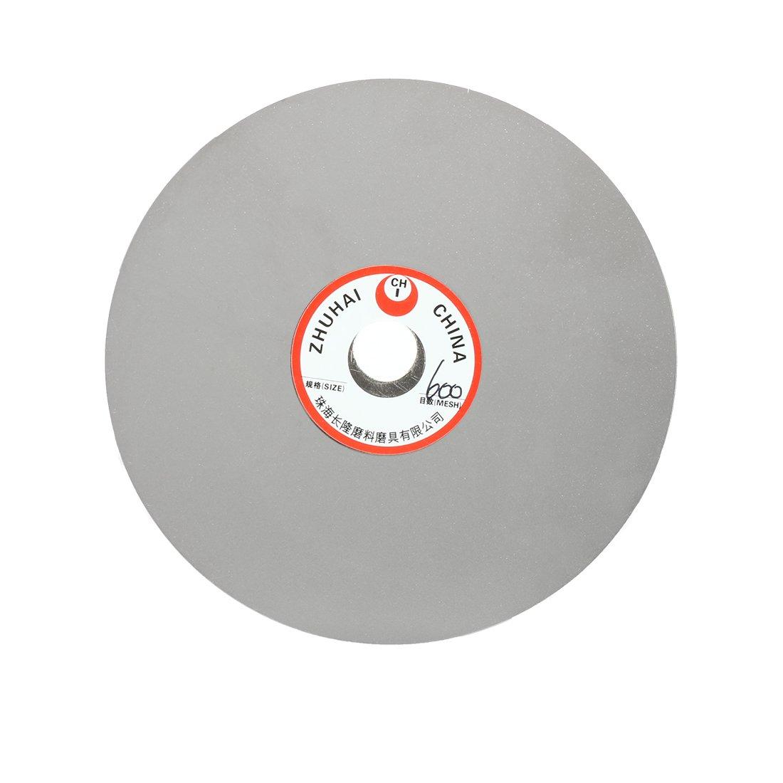 uxcell 6-inch Grit 600 Diamond Coated Flat Lap Wheel Grinding Disc Polishing Tool