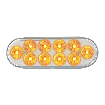 Grand General 76861 LED Light (Oval Mega 10 Plus Amber/Clear 10-), 1 Pack: Automotive