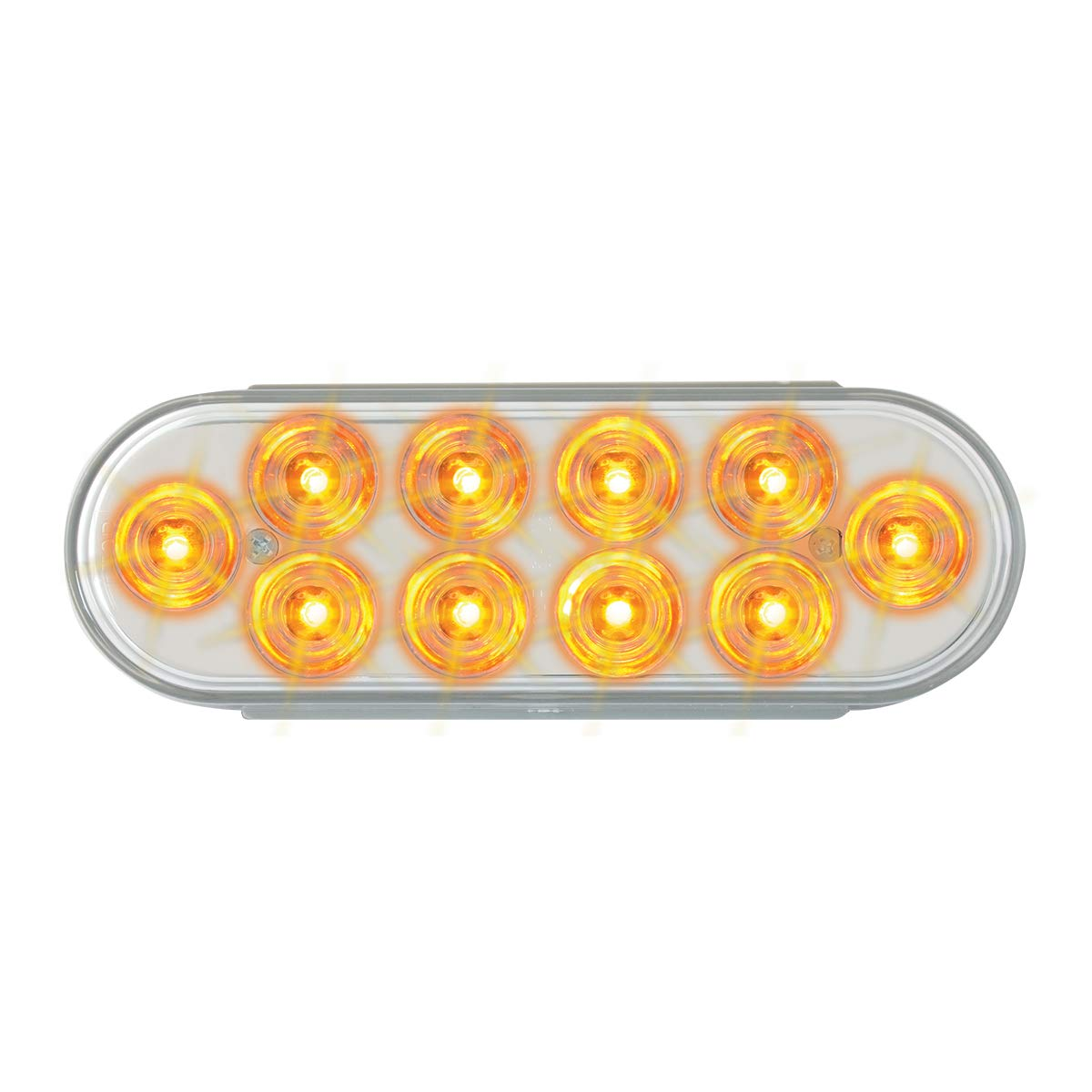 GG Grand General 76861 LED Light (Oval Mega Plus Amber/Clear 10-)