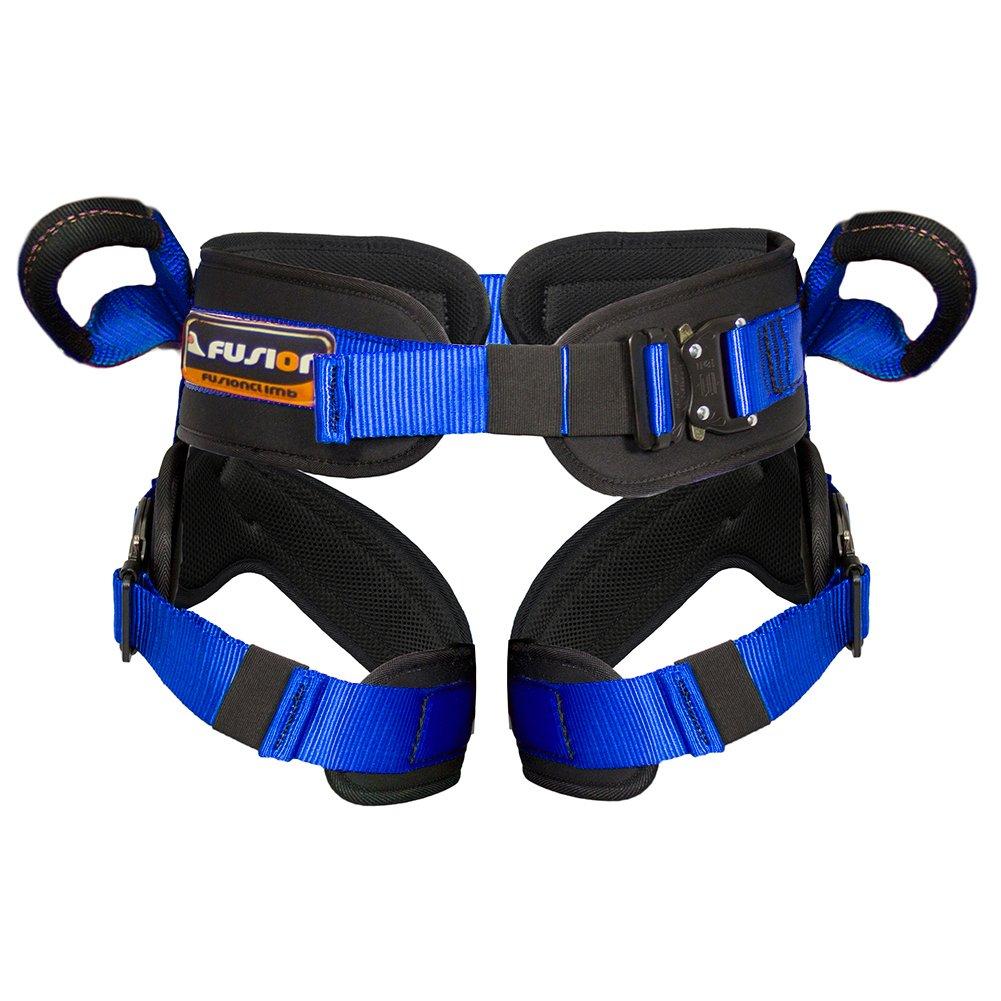 Fusion Climb Rebounder Padded Half Body Bungee Trampoline Harness Blue L-XL