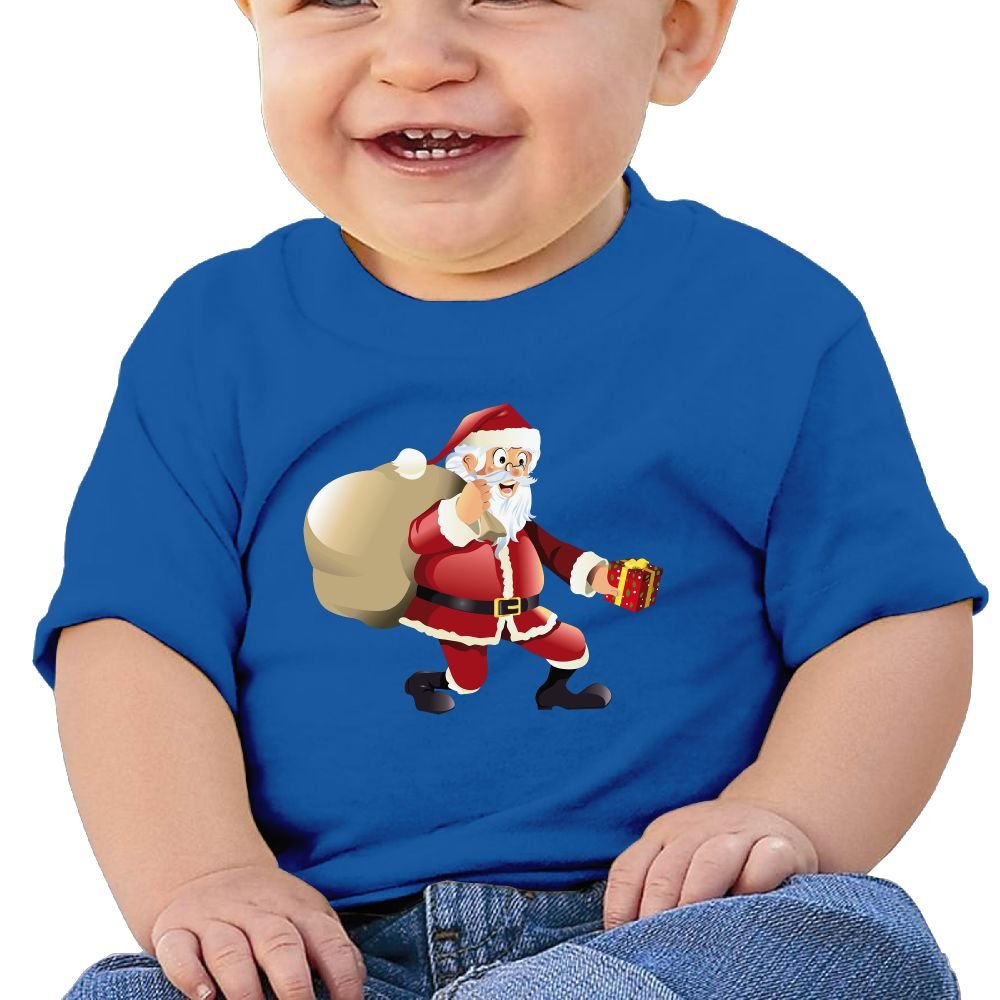 FFWWLHR Santa Claus 2 Baby Novelty Tops Unisex Cute Merry Christmas Cotton Baby Toddler T Shirt Tops
