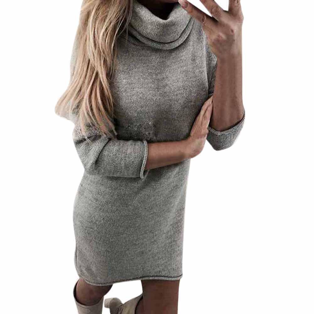 Ginli Donna Sweater Donna Maglione Alto Colletto Maglione Donna Inverno Tinta Unita