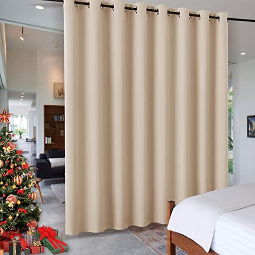 RYB HOME Decor Freestanding Office Partition Wall Divider Curtain