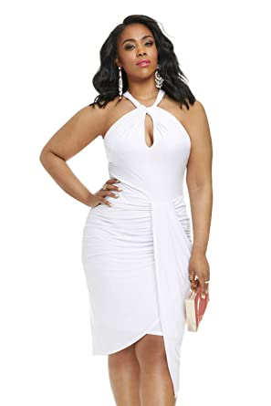 Women\'s Plus Size Vanessa Halter Draped Dress
