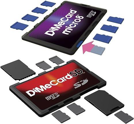 Dimecard-SD y micro8 microSD + soportes para tarjetas de memoria ...
