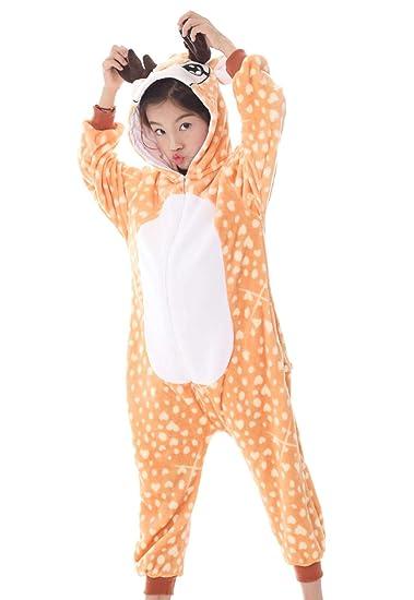 Jxufufoo Pyjama Enfant Combinaison De Nuit Animaux Déguisement