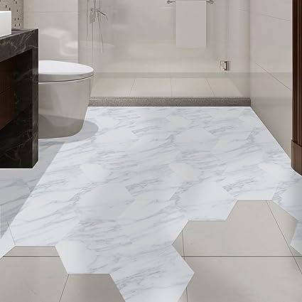 Buy Fancyku PVC 3D Floor Wall Sticker for Bathroom u0026 Kitchen Backsplash Tile (Pattern 03 20cm * 23 cm) - Set of 10 Pieces Online at Low Prices in India ... & Buy Fancyku PVC 3D Floor Wall Sticker for Bathroom u0026 Kitchen ...