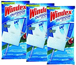 Windex Outdoor All-In-One Pads Refill,2 cleaning pads (pack of 3) - 6 total