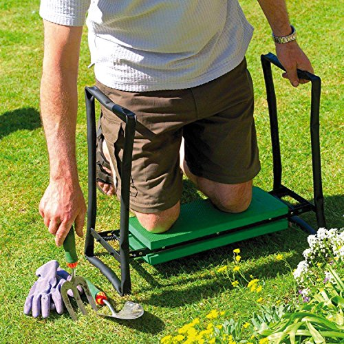 Parkland Folding Portable Garden Kneeler Foam Chair Seat Gardening Knee Pad Padded Stool New
