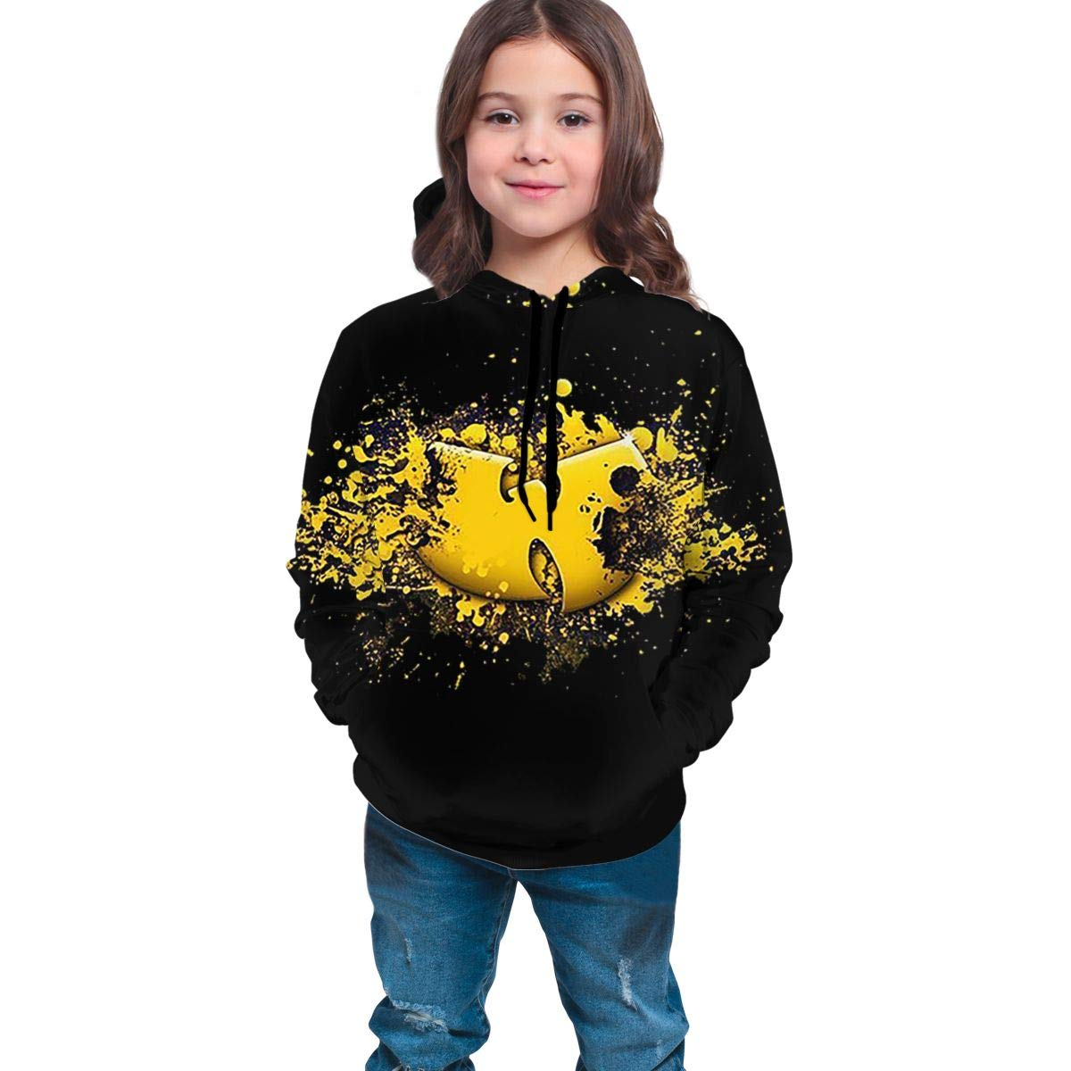 Wu Tang Clan Youth Hoodies,Two-Sided 3D Printed Long Sleeve Pullover Hooded Sweatshirt Hoodies for Kids Youth Boys Girls