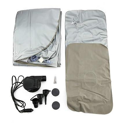 SeniorMar Multifuncional Coche colchón inflado Cama Aire Cama Camping Coche Asiento Trasero Extra colchón con Almohadilla