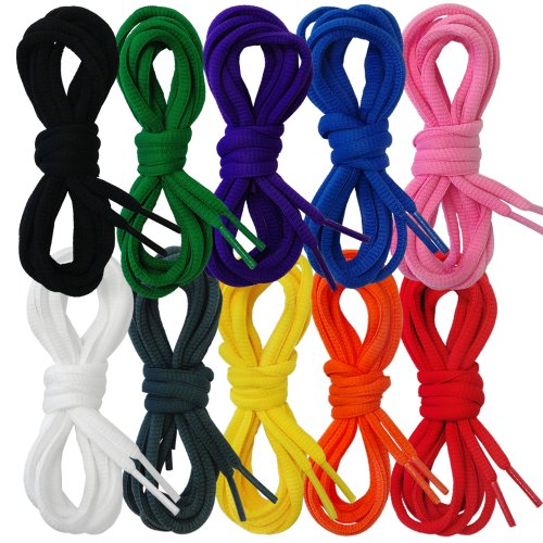 Suddora Shoelaces - Pair of Tubed Multi Colored Shoe Strings
