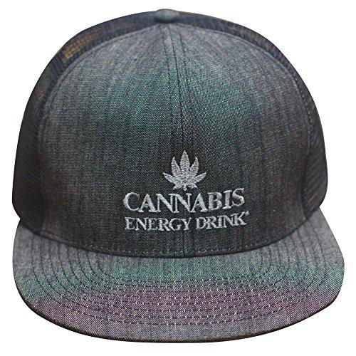 Cannabis-Energy-Drink-Flat-Bill-Trucker-Cap-GREY