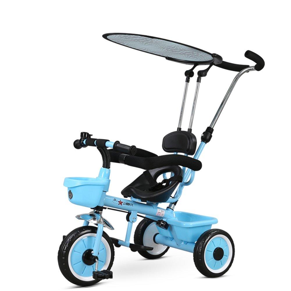 XQ 軽量 耐衝撃性 子供 1-3歳 トロリー ベビーキャリッジ ブルー 子ども用自転車 B07CCJVFHR